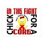 Polluelo en la enfermedad cardíaca de la lucha tarjetas postales