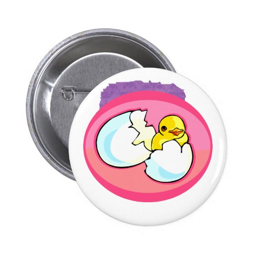 Polluelo en óvalo del rosa del huevo pins