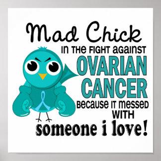 Polluelo enojado 2 alguien cáncer ovárico del amor poster