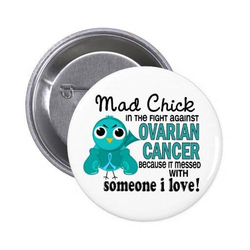 Polluelo enojado 2 alguien cáncer ovárico del amor pin