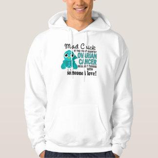 Polluelo enojado 2 alguien cáncer ovárico del amor suéter con capucha