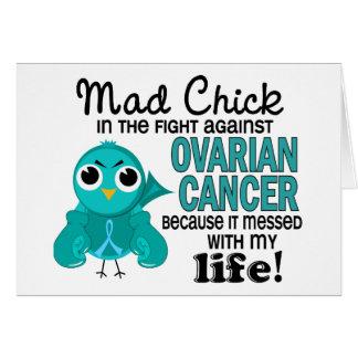 Polluelo enojado 2 mi cáncer ovárico de la vida felicitación