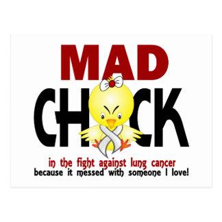 Polluelo enojado en el cáncer de pulmón de la tarjetas postales