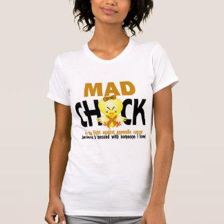 Polluelo enojado en el cáncer del apéndice de la camisetas