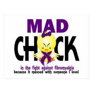 Polluelo enojado en el Fibromyalgia de la lucha Postales