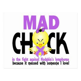 Polluelo enojado en el linfoma del Hodgkin de la Postales