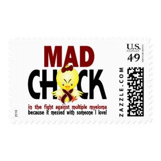 Polluelo enojado en el mieloma múltiple de la sellos postales