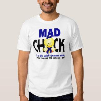 Polluelo enojado en la artritis reumatoide de la camisas