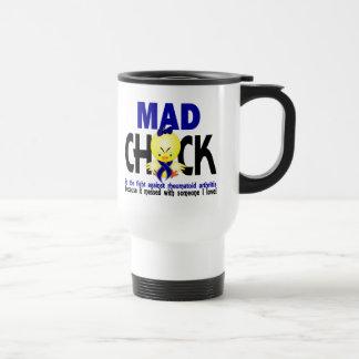 Polluelo enojado en la artritis reumatoide de la l tazas de café