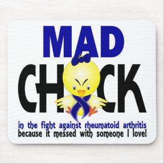 Polluelo enojado en la artritis reumatoide de la l alfombrilla de raton