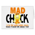 Polluelo enojado en la esclerosis múltiple de la l tarjeta
