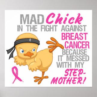 Polluelo enojado ensuciado con el cáncer de pecho poster