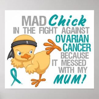 Polluelo enojado ensuciado con el cáncer ovárico d poster