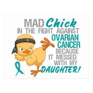 Polluelo enojado ensuciado con el cáncer ovárico d postales