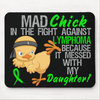 Polluelo enojado ensuciado con linfoma de la hija  alfombrilla de ratón