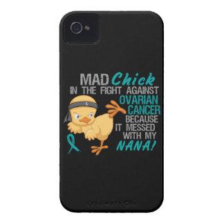 Polluelo enojado ensuciado con mi cáncer ovárico iPhone 4 Case-Mate coberturas