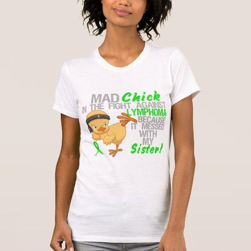 Polluelo enojado ensuciado con mi linfoma de la camisetas