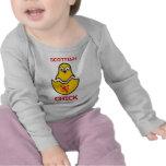 Polluelo escocés camisetas