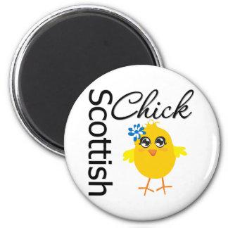 Polluelo escocés imán redondo 5 cm