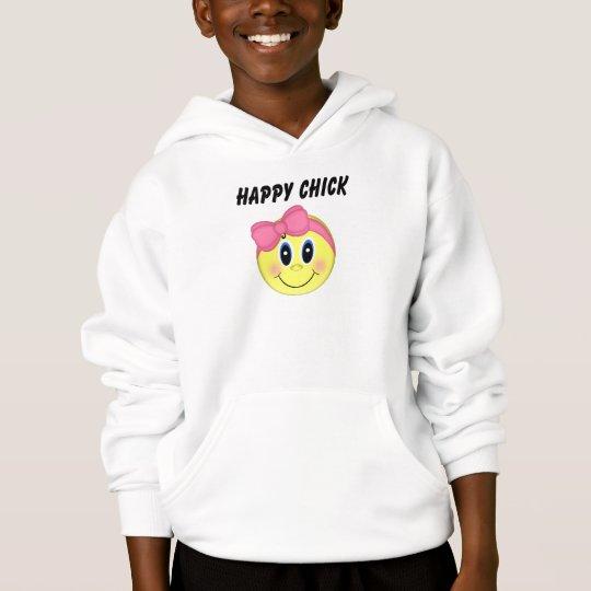 Polluelo feliz de la cara sonriente de los chicas