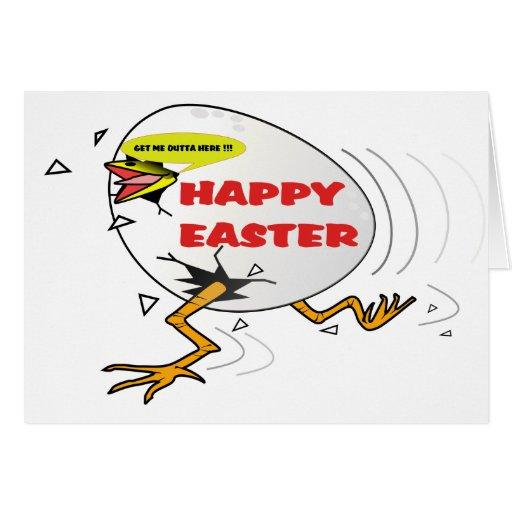 Polluelo feliz de Pascua Felicitacion
