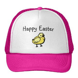 Polluelo feliz de Pascua Gorros Bordados