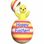 Polluelo feliz de Pascua móvil Esculturas Fotográficas
