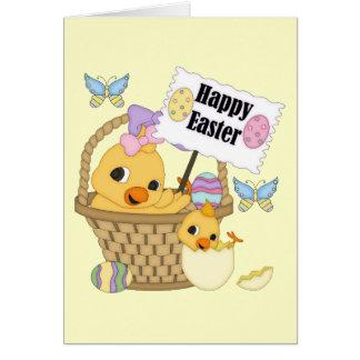 Polluelo feliz de Pascua Tarjeta De Felicitación