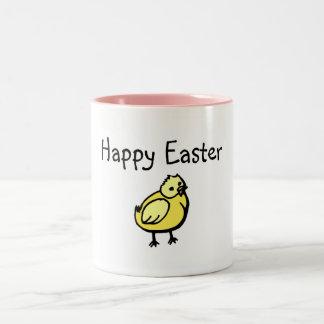 Polluelo feliz de Pascua Tazas