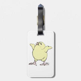 Polluelo feliz etiquetas maleta
