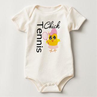 Polluelo fresco del tenis body para bebé