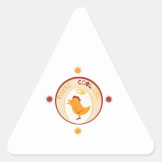 Polluelo fresco pegatina triangular
