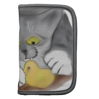 Polluelo gris del gatito y de la melcocha de organizadores