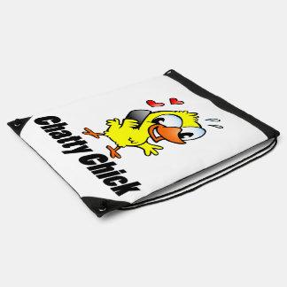 Polluelo hablador mochila
