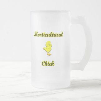 Polluelo hortícola taza de cristal