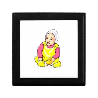 polluelo humano del amarillo del bebé y outfit png cajas de regalo