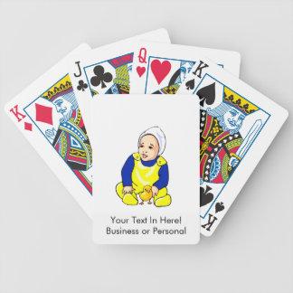 polluelo humano sleeves.png azul del bebé barajas de cartas