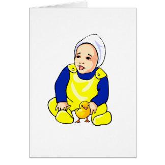 polluelo humano sleeves.png azul del bebé tarjeta pequeña