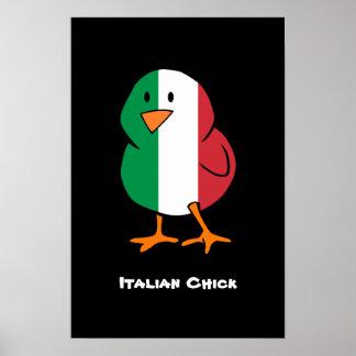 Polluelo italiano póster