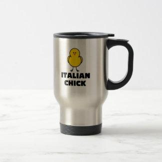 Polluelo italiano tazas de café