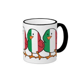 Polluelo italiano taza a dos colores