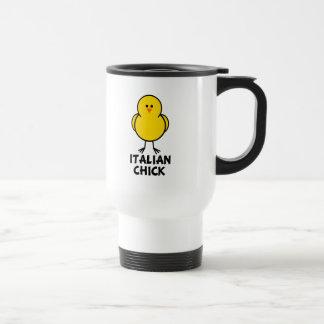 Polluelo italiano taza de café