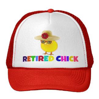 Polluelo jubilado, diseño colorido gorra