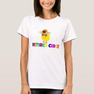 Polluelo jubilado, diseño colorido playera
