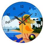 Polluelo jubilado - humor reloj de pared