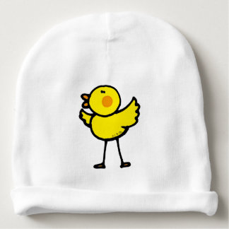 polluelo lindo amarillo gorrito para bebe