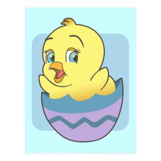 Polluelo lindo de Pascua del dibujo animado Postales