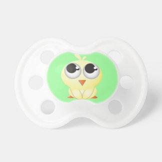 Polluelo lindo del dibujo animado chupetes para bebes