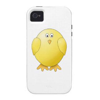 Polluelo lindo Pequeño pájaro amarillo Case-Mate iPhone 4 Carcasas