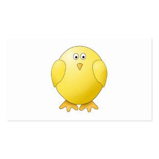 Polluelo lindo. Pequeño pájaro amarillo Tarjetas De Visita